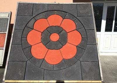 Custom made paving slabs