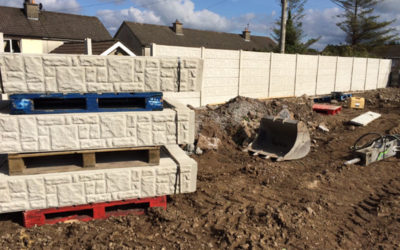 Stone faced panels delivered to site