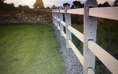 Three rail concrete fencing